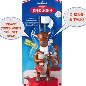 Hallmark North Pole Deer John Talking Reindeer NWT